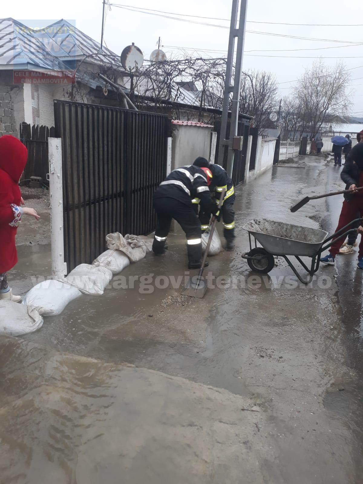 Şase gospodării au fost inundate, la I.L.Caragiale