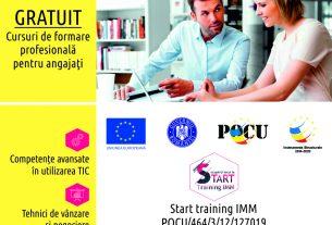 """""""Ocupa-ți locul la START! START Training IMM – un proiect creat pentru dezvoltarea companiei tale"""""""