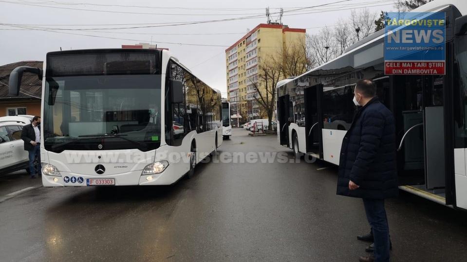 ACUM – Au sosit primele 11 autobuze Mercedes-Benz Citaro Hybrid, în Târgovişte. VIDEO