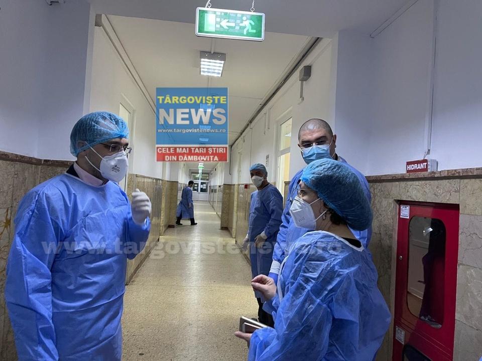 """Vlad Voiculescu, vizită neașteptată, aseară, la Spitalul din Târgoviște: """"Aș vrea să le mulțumesc. Fac eforturi deosebite"""""""