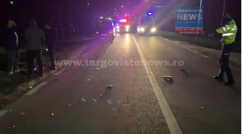 VIDEO – Un tânăr de 39 de ani a fost accidentat mortal, pe DN 61, la Corbii Mari