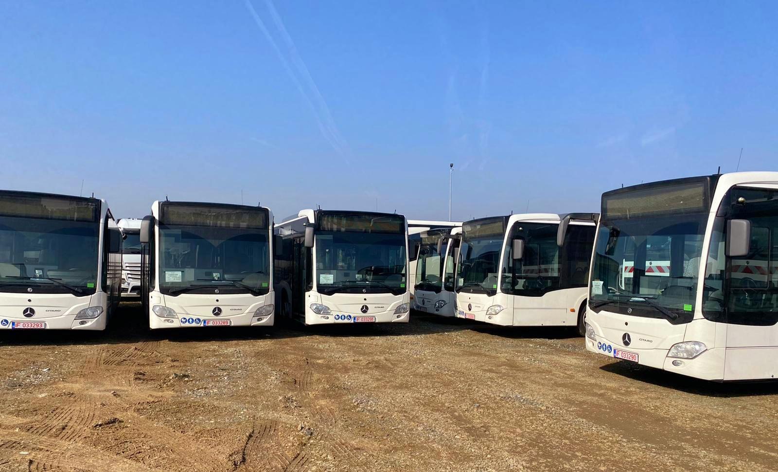 10 autobuze Mercedes-Benz Citaro Hybrid, destinate Primăriei Municipiului Târgoviște, au ajuns în România