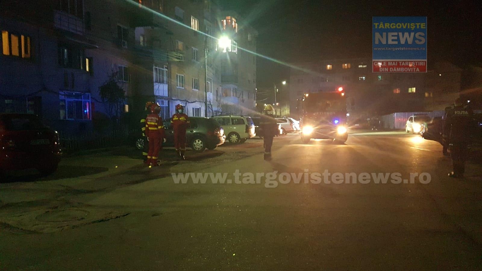 Zeci de persoane dintr-un bloc din Găești, evacuate, după ce locatarii au simțit miros puternic de gaze