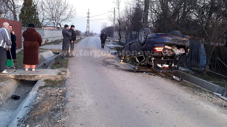 Doi frati au fost răniti după ce maşina în care se aflau s-a răsturnat, la Conţeşti