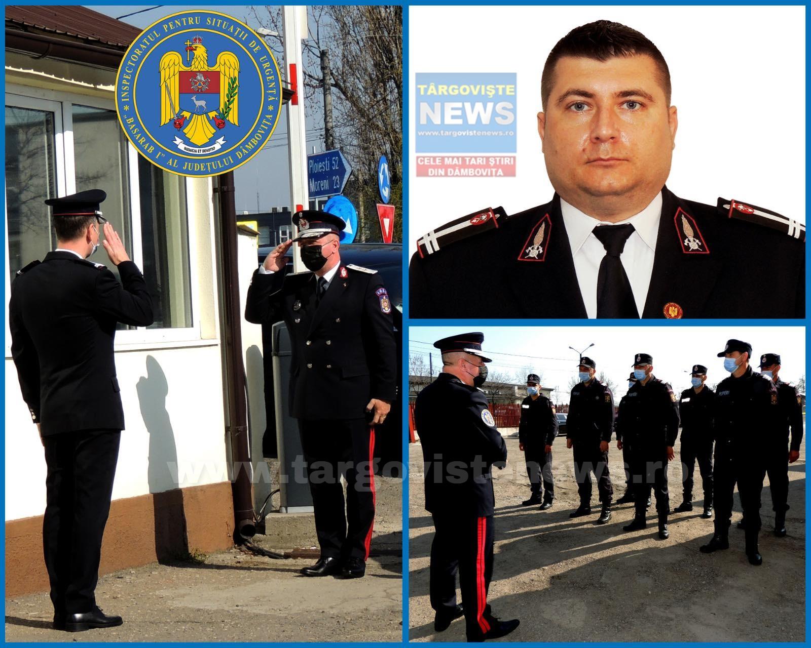 Locotenent-colonelul Florea Cristian-Claudiu, noul şef al ISU Dâmboviţa