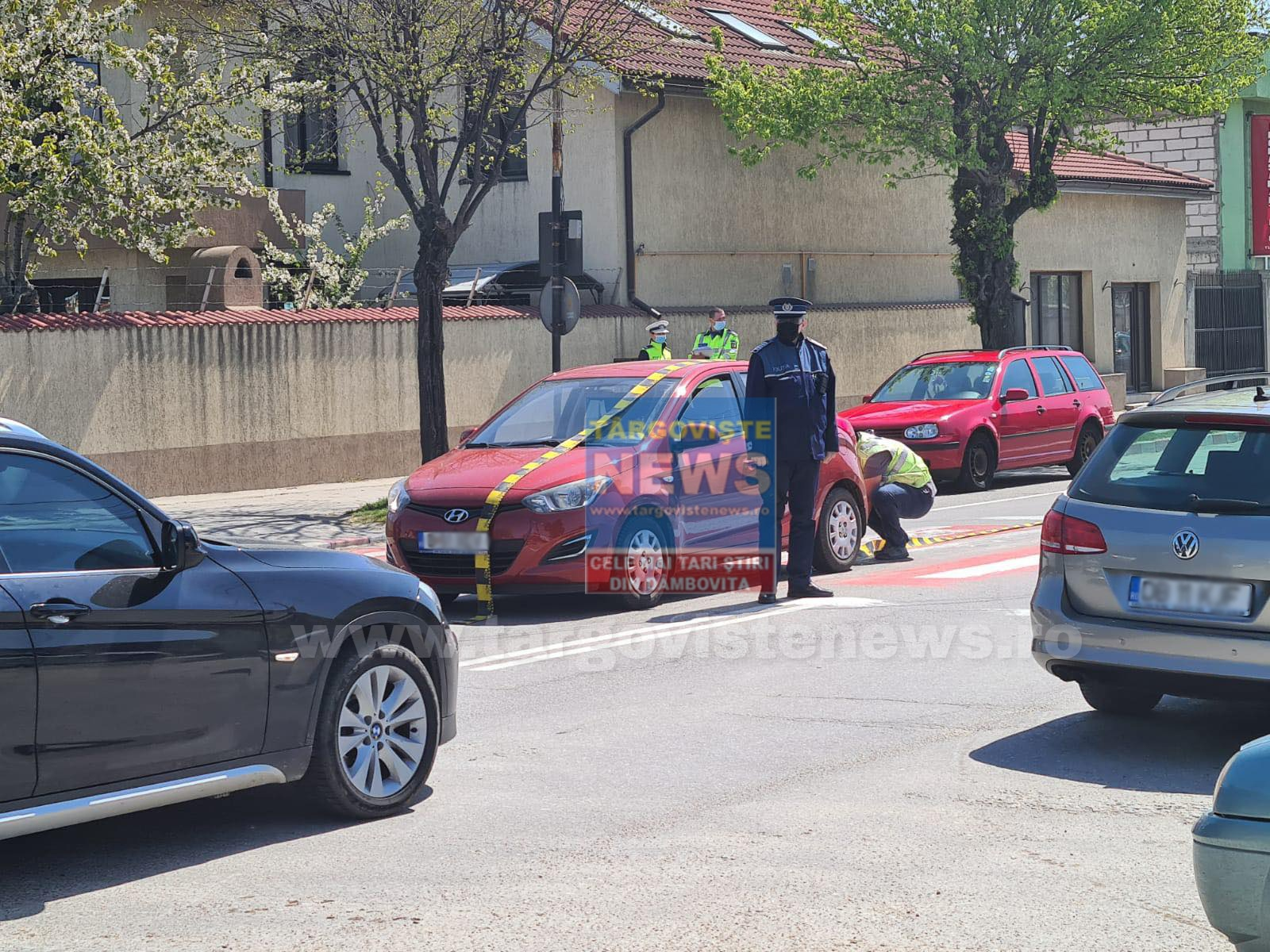 ACUM – Accident pe Calea Bucureşti, în Târgovişte. O femeie a fost accidentată de o maşină, pe trecerea de pietoni