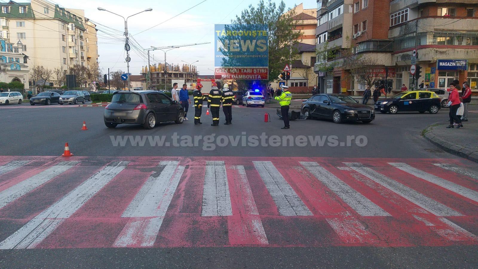 Un copil de un an a fost rănit într-un accident de circulaţie, în intersecţia de la Biserica Sârbilor, în Târgovişte