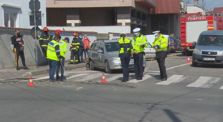 Târgovişte: O femeie a fost rănită și trei mașini avariate, într-o intersecţie aglomerată