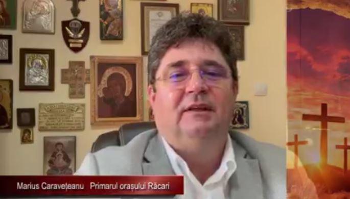 """Marius Caraveţeanu, primarul oraşului Răcari: """"Minunea Învierii Domnului să ne aducă în suflet împăcare, armonie, iertare şi iubire"""""""