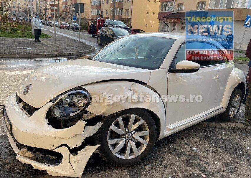 Accident lângă hala din micro 11, în Târgoviște