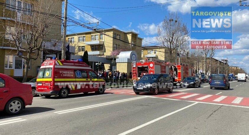 ULTIMA ORĂ. Incendiu la Judecătoria Târgoviște