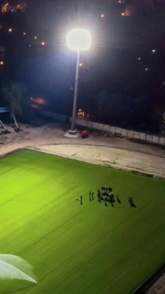 """Au fost făcute primele probe la nocturna stadionului """"Eugen Popescu"""""""