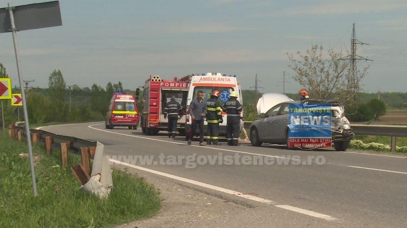 VIDEO – Primele imagini surprinse după accidentul de la ieşirea din Găeşti