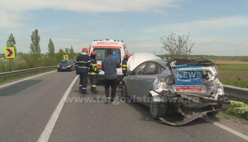 Trei femei au fost rănite într-un accident rutier produs la ieşirea din Găeşti