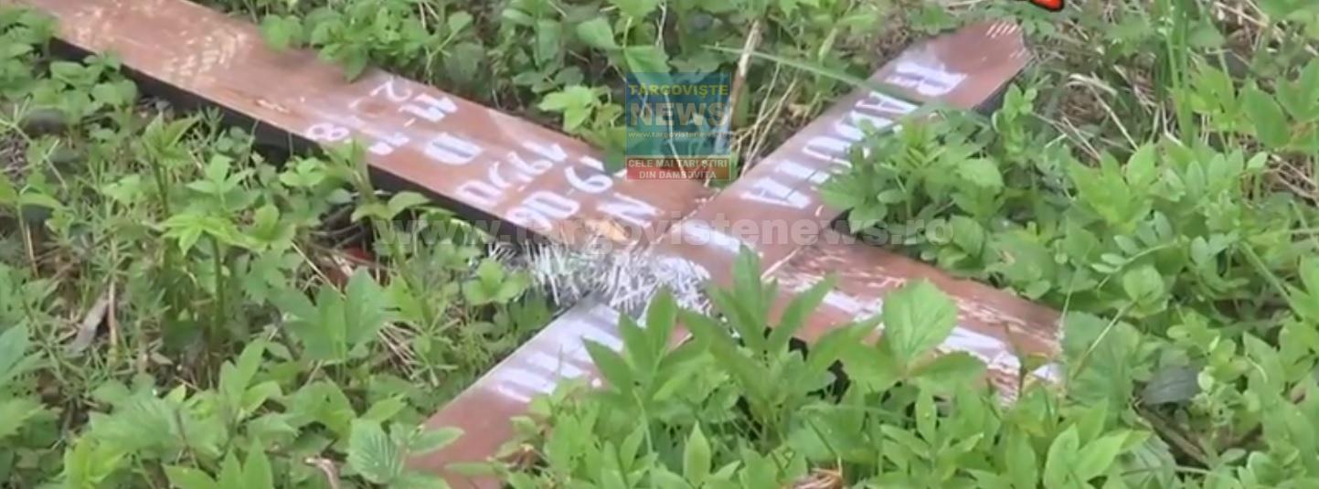Acte de vandalism în cimitirul din Onceşti, comuna Voineşti. Cine a rupt crucile de la mai multe morminte?