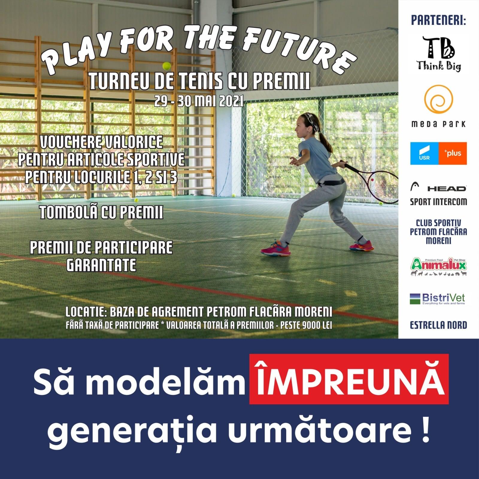 """""""Play for the Future""""! Nu ratați turneul de tenis pentru copii, între 29-30 mai, la Moreni!"""