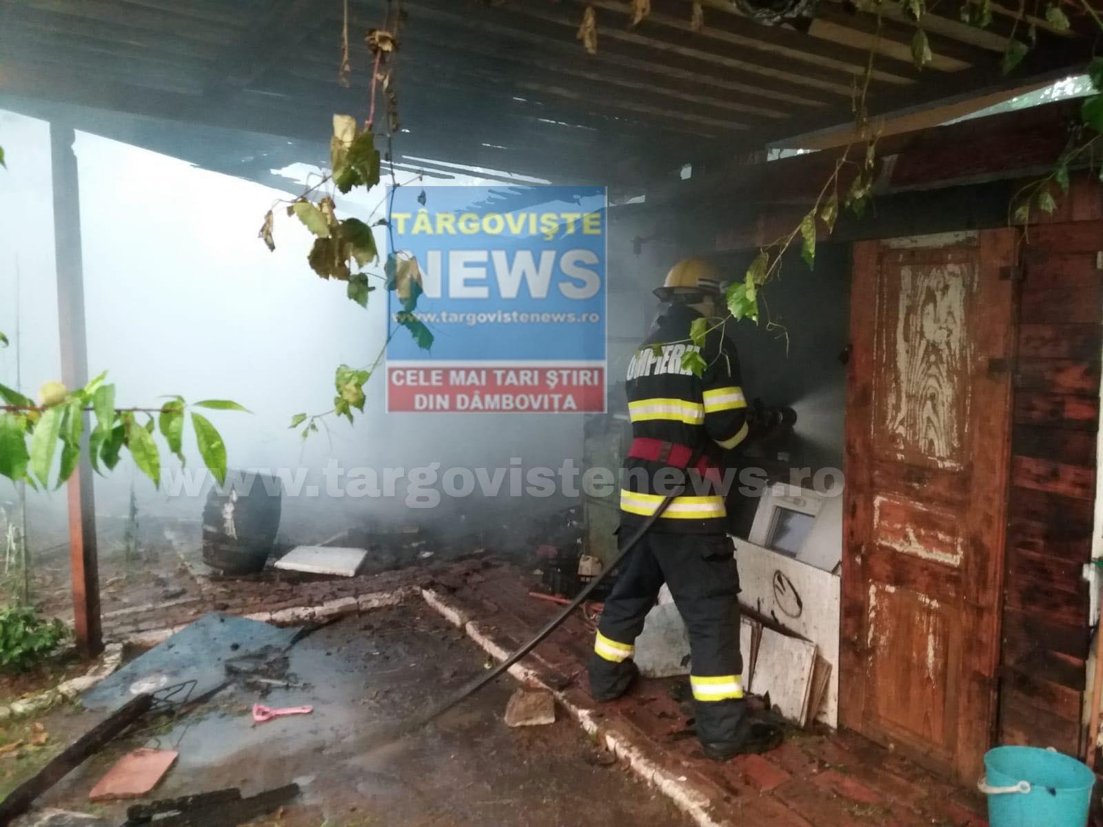 ACUM – Incendiu la Flacăra Moreni
