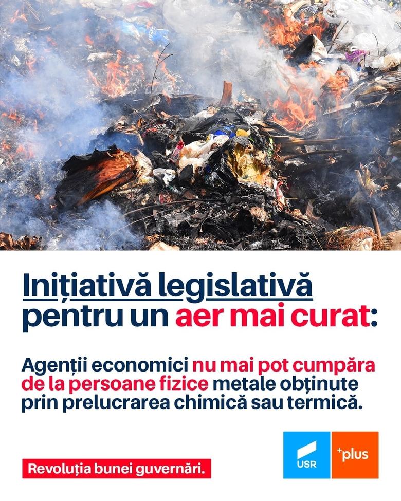 Dragoş Popescu, senator USRPLUS, iniţiativă importantă despre  prevenirea arderilor ilegale de cabluri și conductori