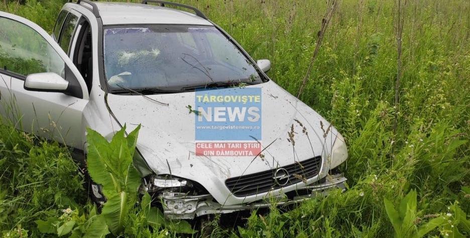 Accident pe DN 72, la Caragiale. Două mașini s-au izbit, un pasager a fost rănit