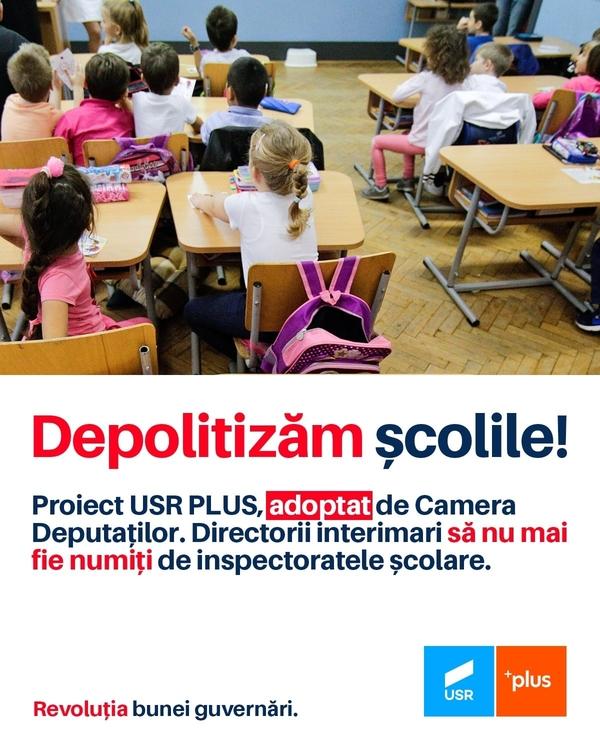 """Deputatul Daniel Blaga: """"Şcolile trebuie să iasă din influenţa politică"""""""