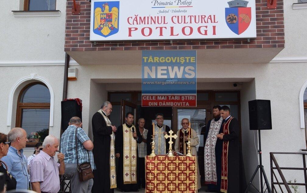 A fost inaugurat căminul cultural din comuna Potlogi