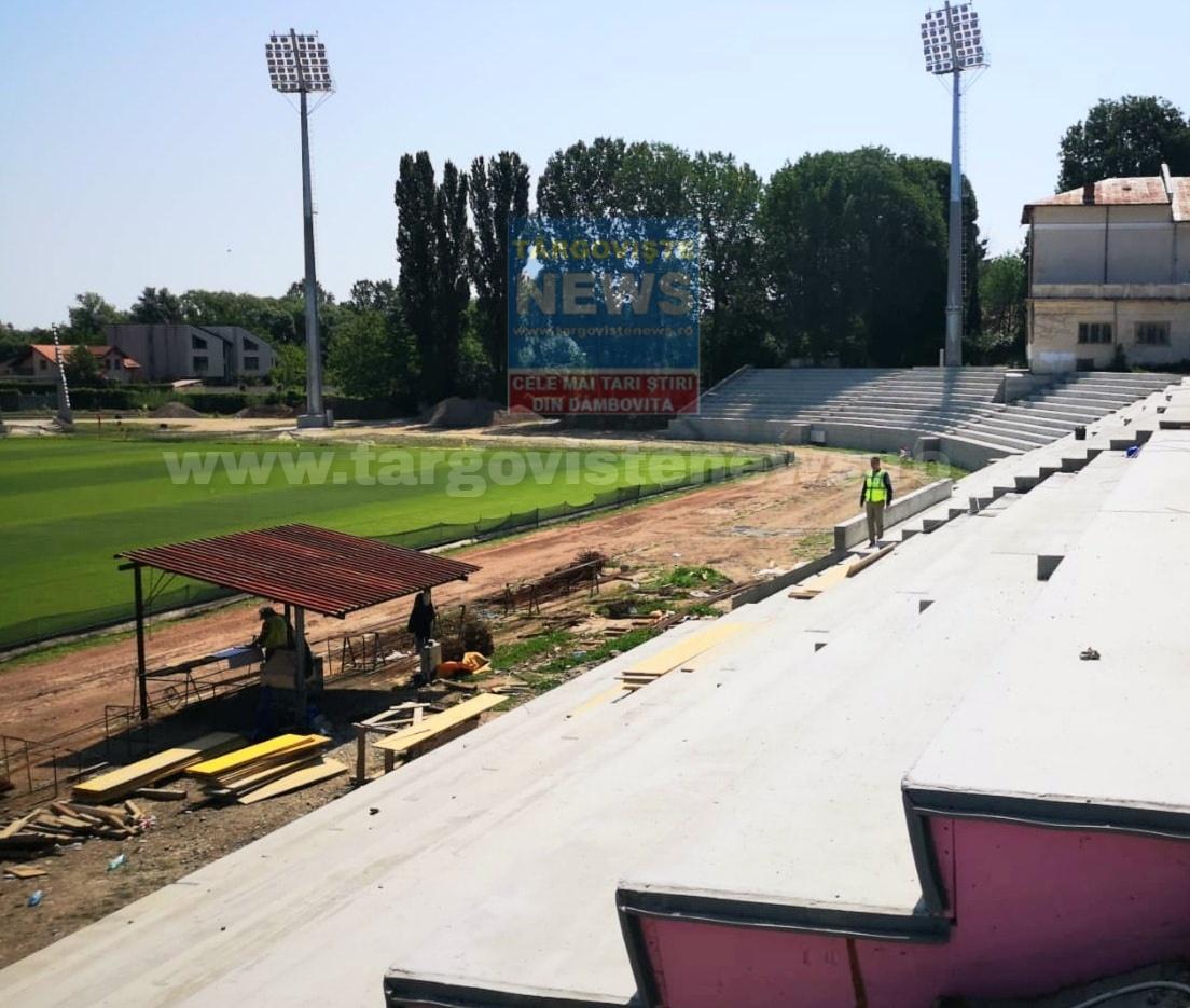 """Stadionul din Târgovişte: """"Facem toate eforturile pentru ca arena sportivă să poată fi terminată în acest an"""""""