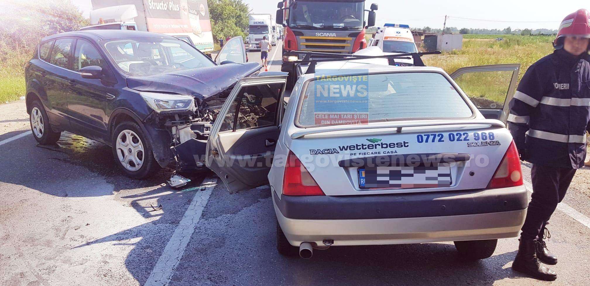 Accident în intersecţia de la Lucieni. Doi şoferi au fost răniţi