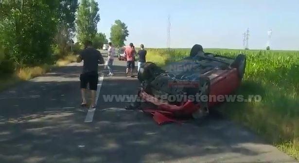 ACUM – Un şofer s-a răsturnat cu maşina pe drumul de la Colanu
