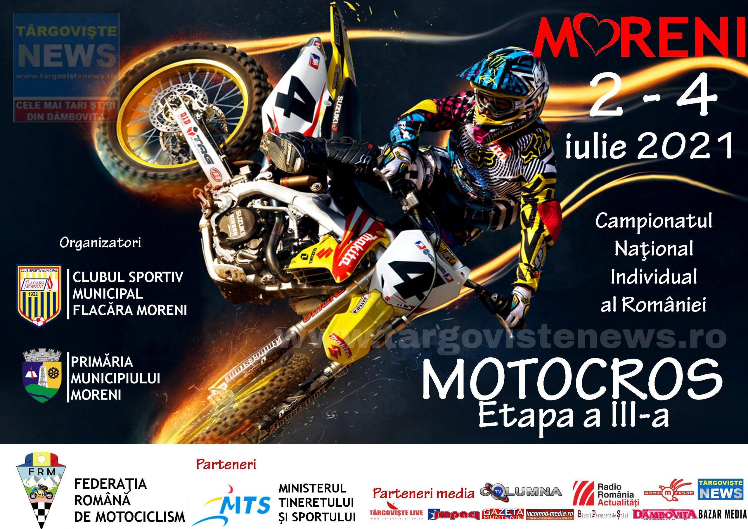 Moreni – a III-a etapă din cadrul Campionatului Naţional Individual al României la Motocros