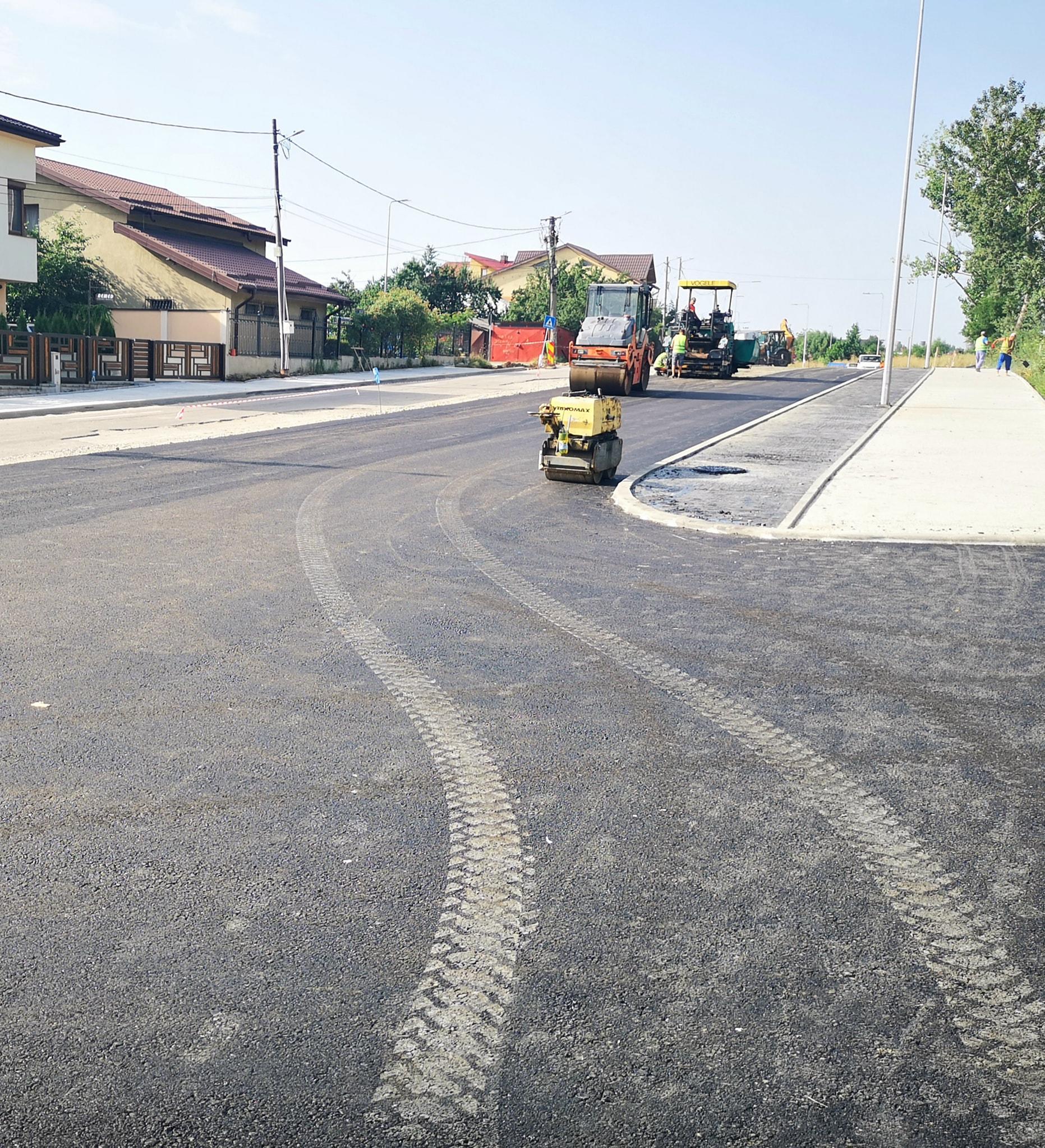 Târgovişte – Au început asfaltările pe noul drum spre mall