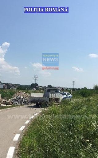 Răzvad – Surprins de poliţişti în timp ce arunca deșeuri în apropierea căii ferate