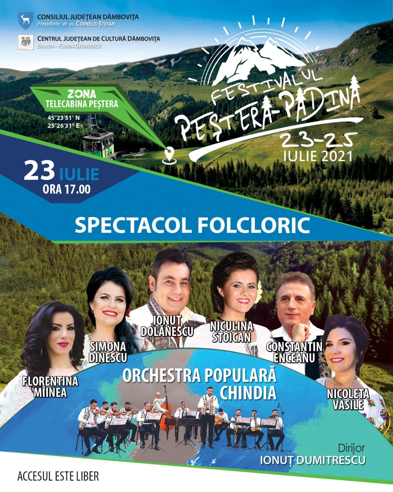 """Festivalul """"Peștera-Padina"""", în Munții Bucegi. 23 – 25 iulie, la 1.500 metri altitudine, în zona """"Telecabina Peștera"""""""