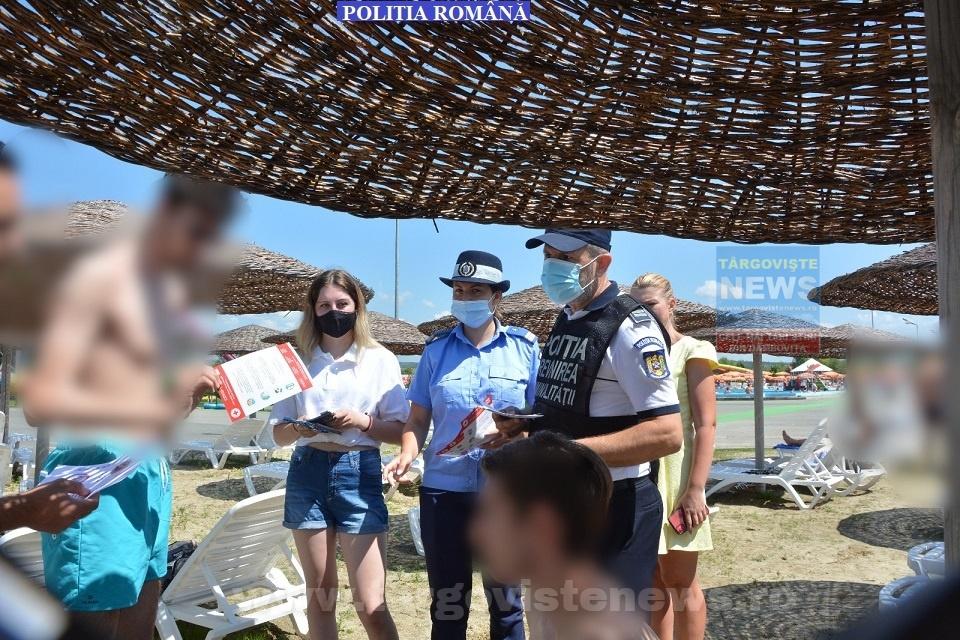 Poliţiştii au mers la Complexul Turistic de Natație din Târgoviște