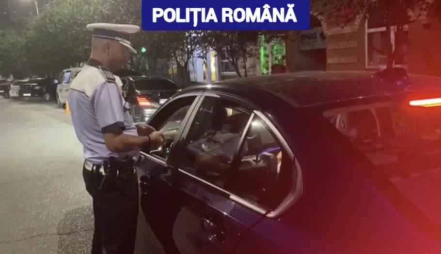 Zeci de mașini cu defecțiuni tehnice, descoperite de polițiști în centrul orașului Târgoviște