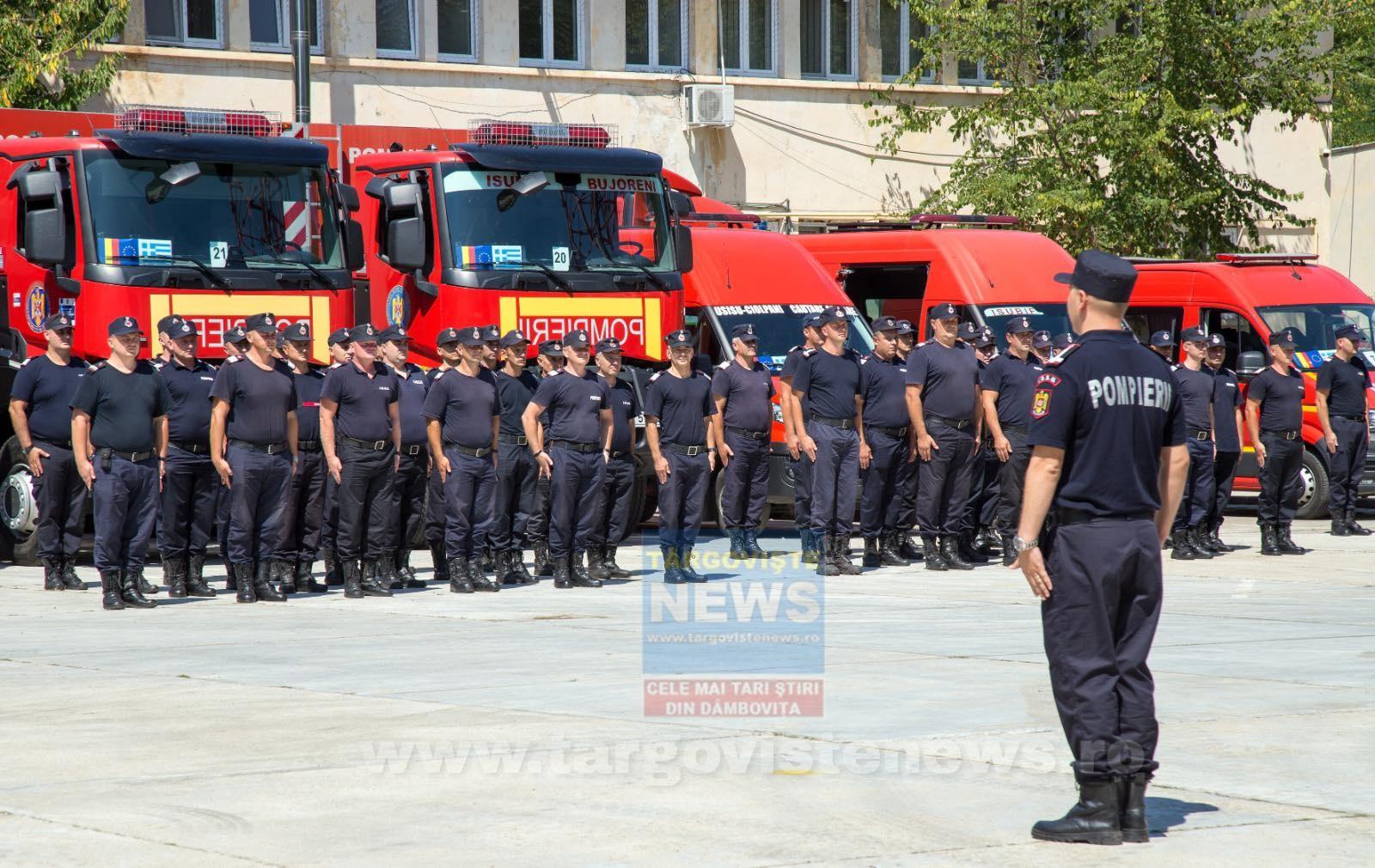 142 de pompieri români au plecat să lupte cu flăcările din Grecia
