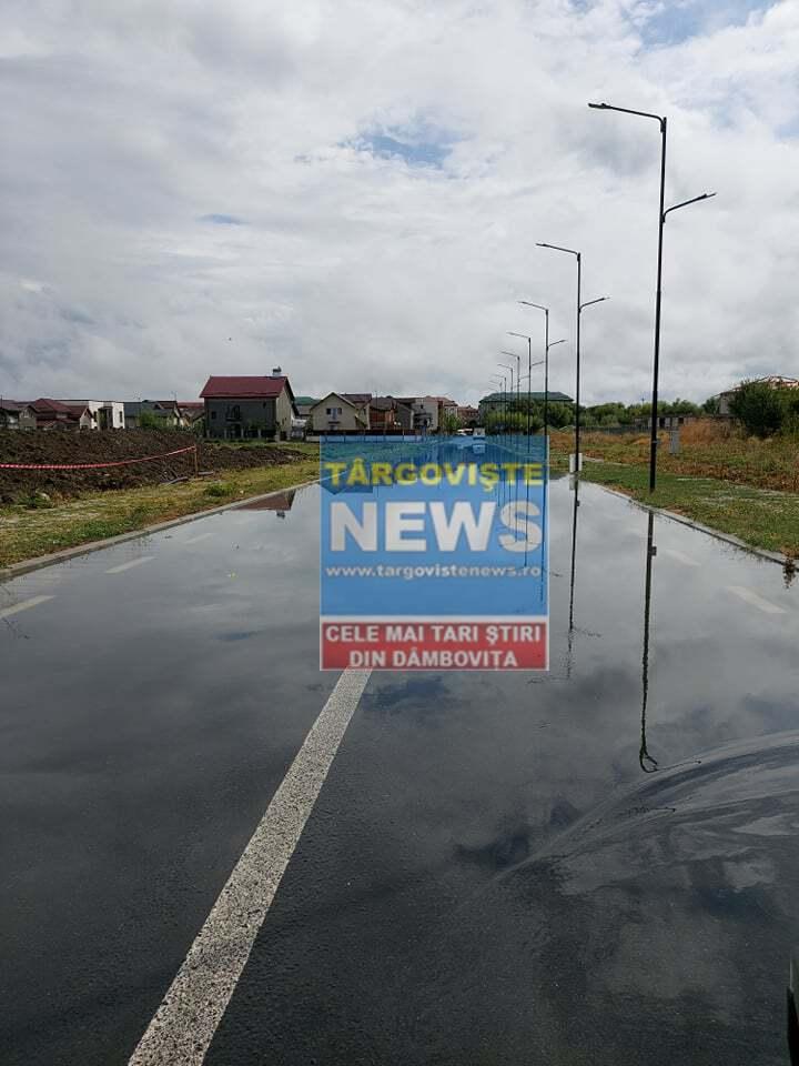 ACUM – VIDEO – Ploile au adus necazuri în județul Dâmbovița