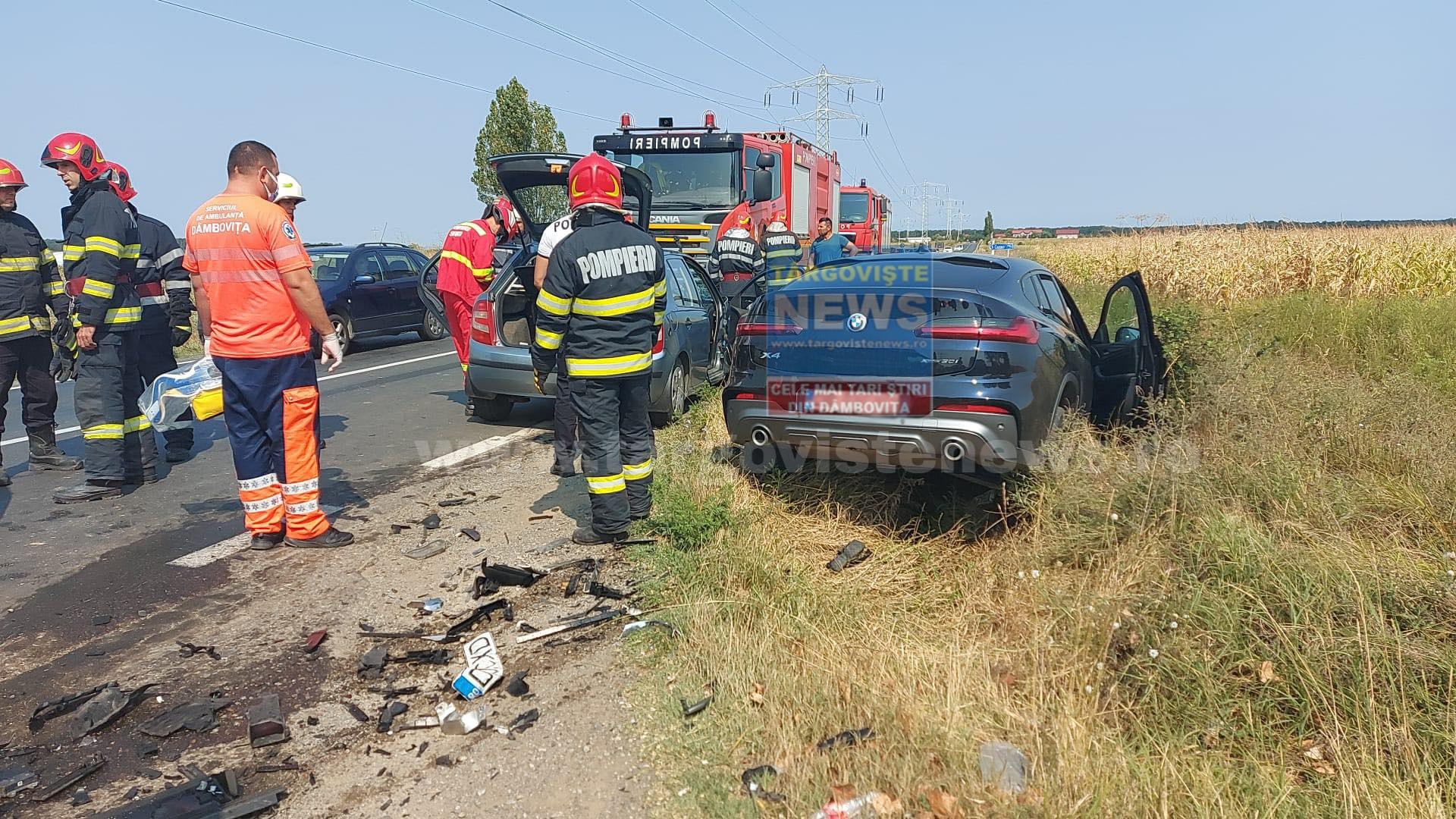 ACUM – Accident pe DN 71, la Ilfoveni. Doi oameni au fost răniţi