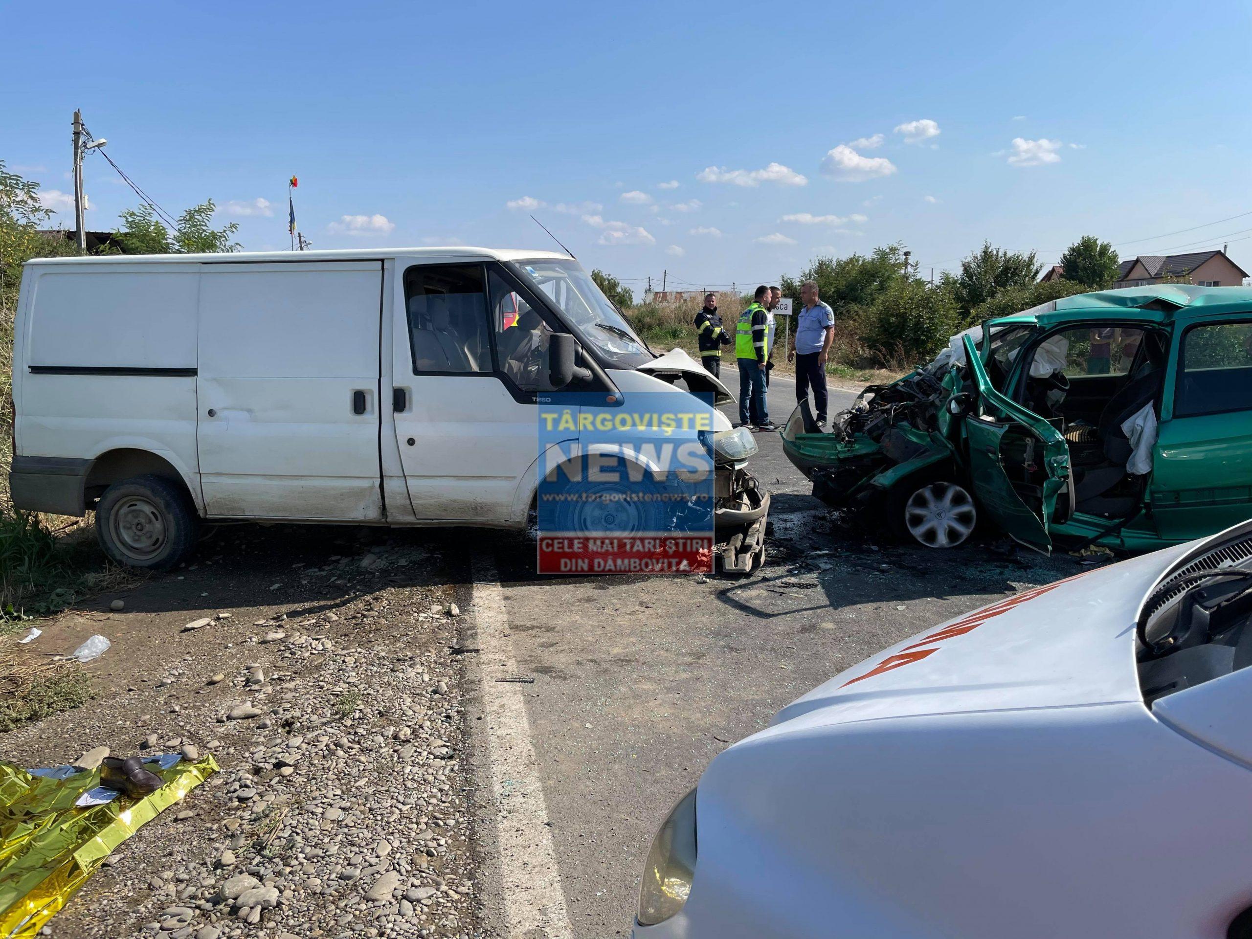 FOTO-VIDEO. Tragedie pe DN 7, la Lungulețu. Un om a murit și altul este grav rănit, după o depășire fatală