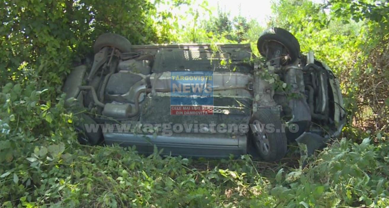 Biciclist lovit de maşină, pe DN 72A, lângă Ungureni, Măneşti. Şoferul a fugit de la faţa locului. Alt şofer s-a răsturnat cu maşina