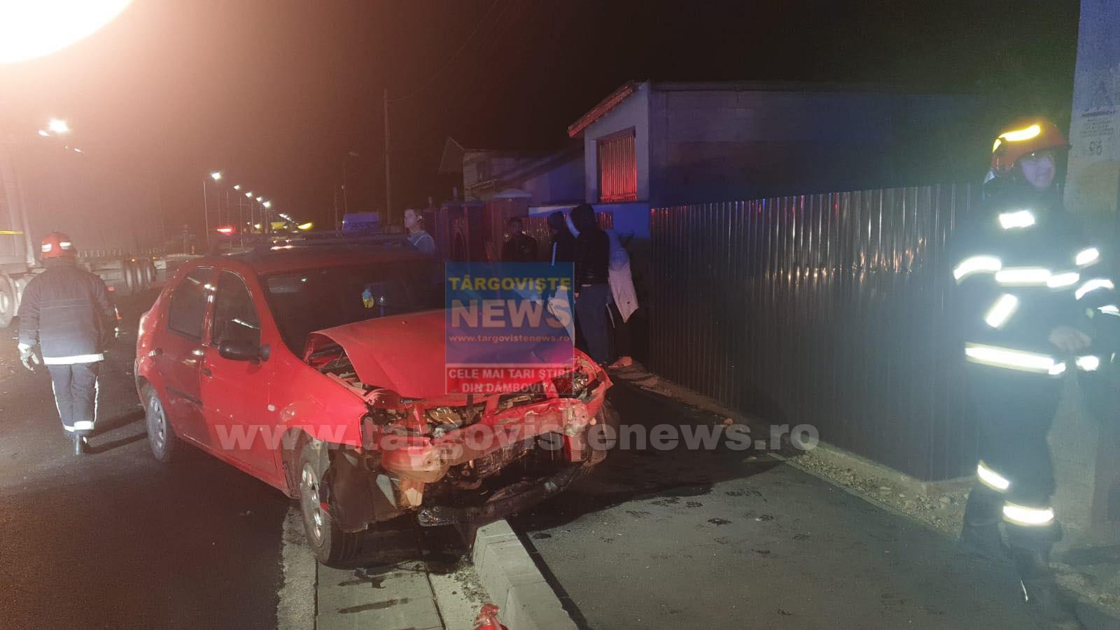 FOTO – VIDEO: Un taximetru a izbit o maşină, la Ulmi. Şoferii şi o pasageră minoră, răniţi