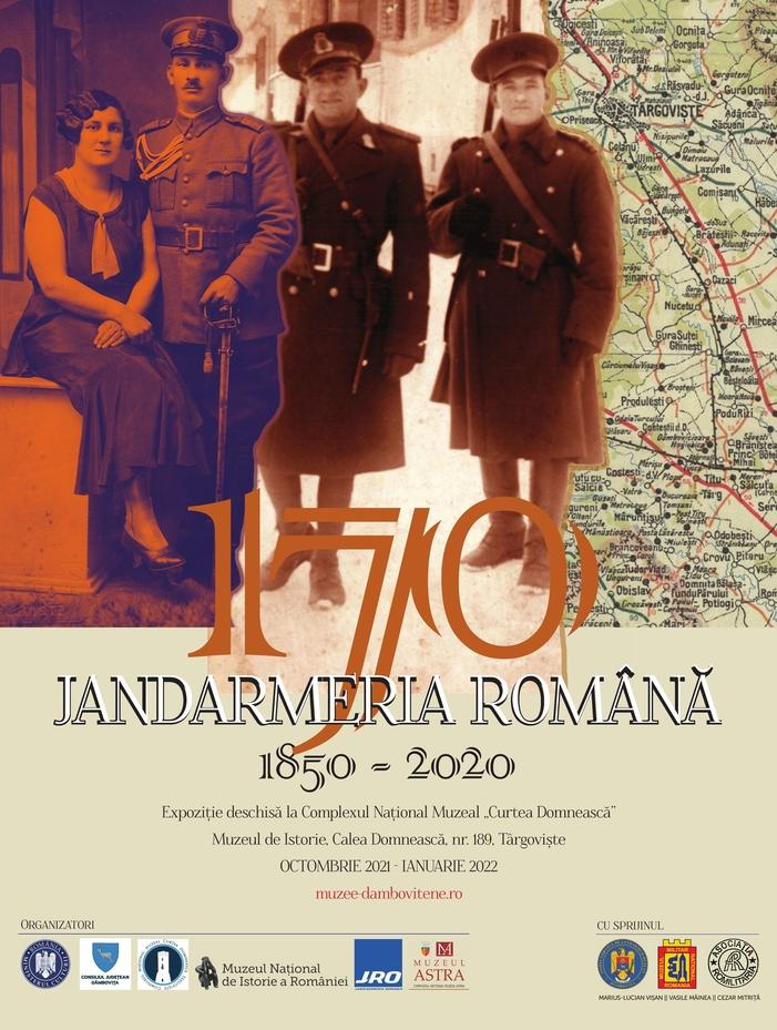 "Expoziție – ""Jandarmeria Română 1850 – 2020"""