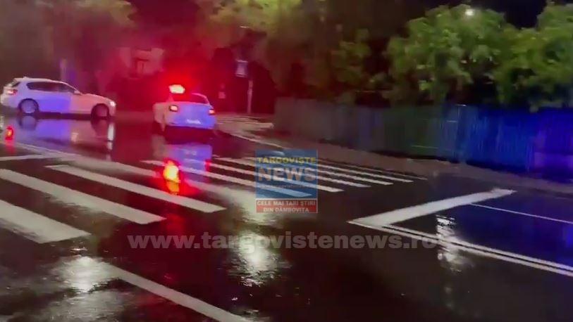 Un şofer începător a accidentat o femeie pe trecerea de pietoni, aseară, la Târgovişte