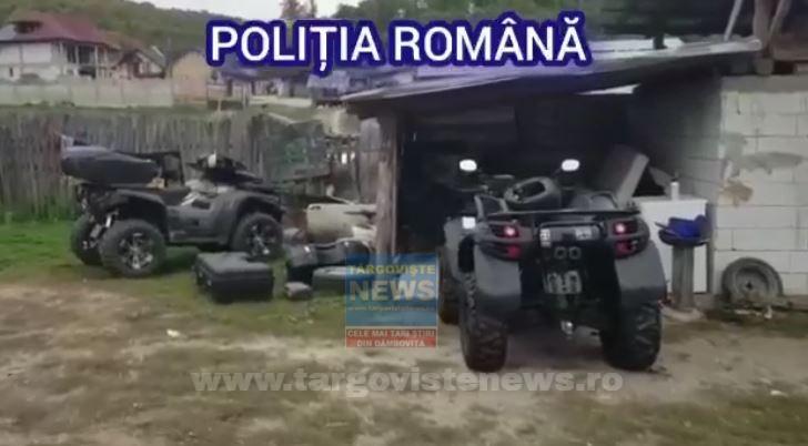 VIDEO – ATV-uri furate din Germania, găsite la Călineşti, în Argeş