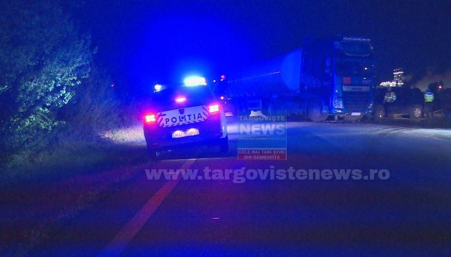 Un șofer aflat sub influența băuturilor alcoolice a intrat cu mașina de teren într-un camion-cisternă pentru GPL