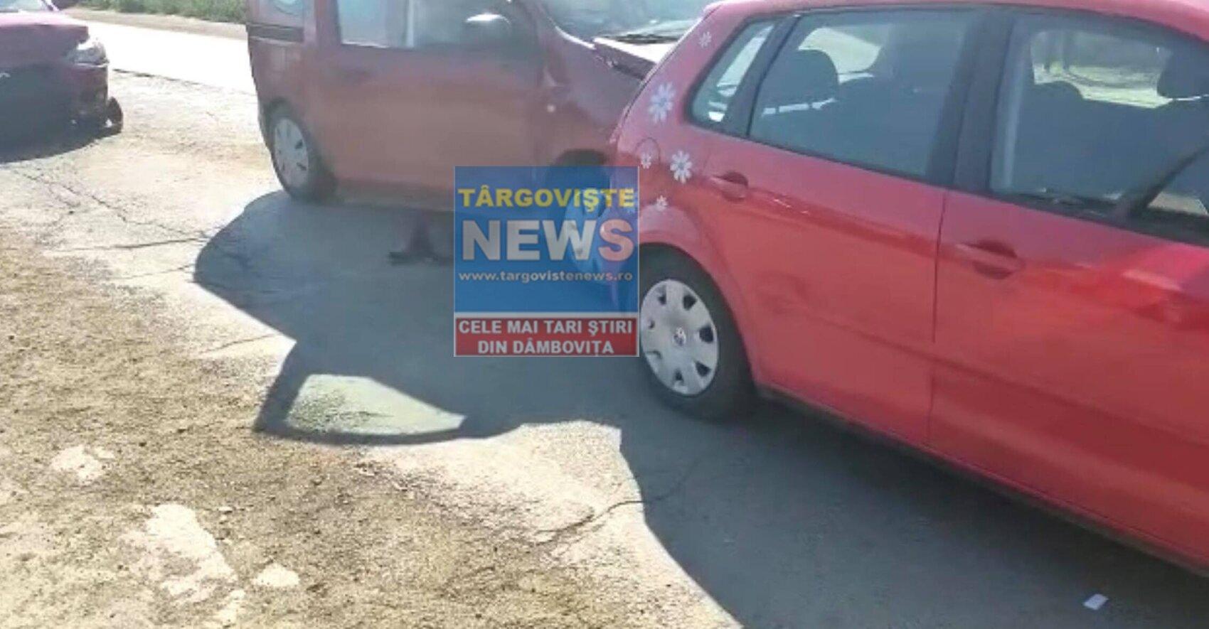 Carambol pe DN7, la Slobozia Moară. Un șofer a fost rănit, iar trei mașini au fost avariate
